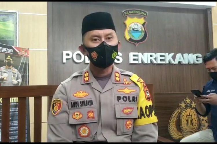 Kapolres Enrekang AKBP Andi Sanjaya.