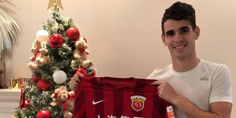 Gelandang asal Brasil, Oscar, resmi bergabung ke klub Liga Super China, Shanghai SIPG.