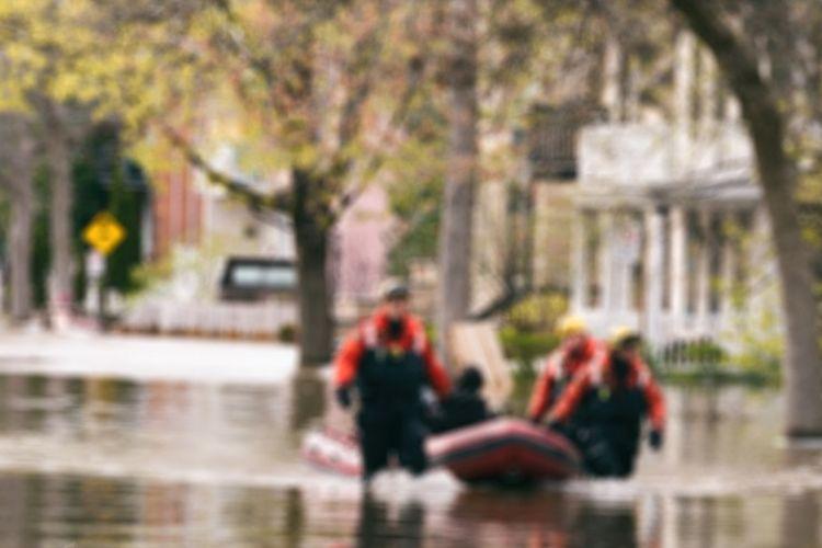 Ilustrasi banjir akibat perubahan iklim