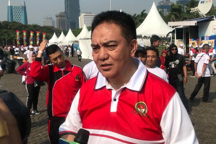 Kepala Divisi Humas Polri Irjen M. Iqbal saat ditemui di Lapangan Silang Monas, Jakarta Pusat, Minggu (7/7/2019).