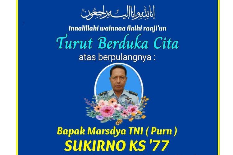 Ucapan dukacita atas meninggalnya ajudan Presiden Abdurrahman Wahid, Sukirno.