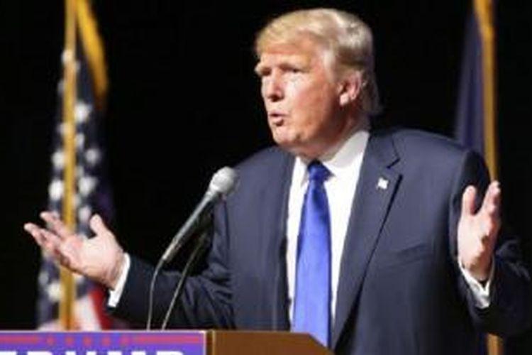 Raja real estate, Donald Trump masih memimpin kontes nominasi bakal calon presiden AS dari Partai Republik untuk pemilu tahun 2016.