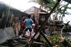 4 Rumah Warga di Gunungsitoli Hancur Dihantam Gelombang Laut