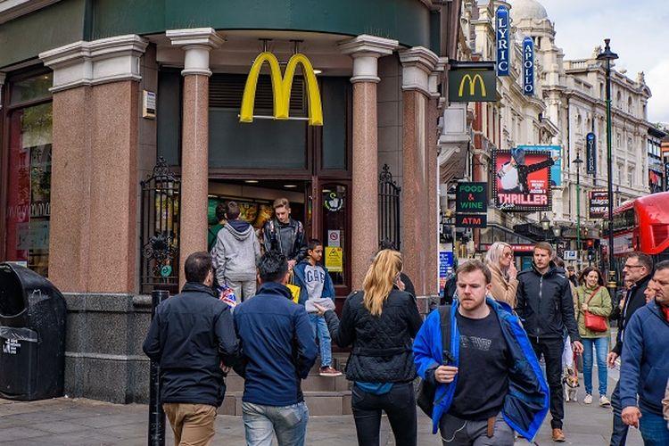 Ilustrasi Salah satu McDonalds di London Inggris