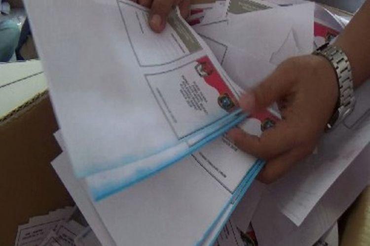 Ilustrasi surat suara Pilkada 2018