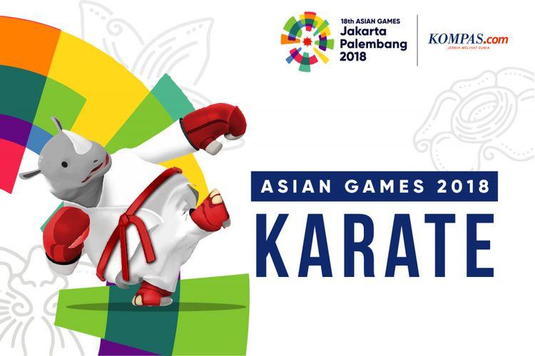 Logo karate Asian Games 2018.
