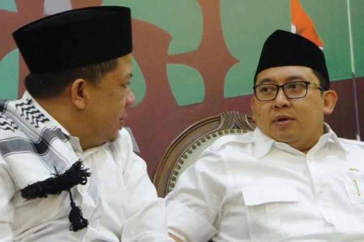 Wakil Ketua DPR RI Fahri Hamzah dan Fadli Zon di Kompleks Parlemen, Senayan, Jakarta, Senayan, Jumat (4/11/2016)