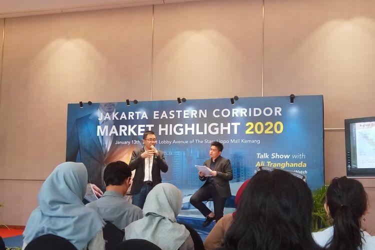 Direktur Eksekutif Indonesia Property Watch, Ali Tranghanda dalam acara Jakarta Eastern Corridor Market Highlight di Jakarta, Senin (13/1/2020).