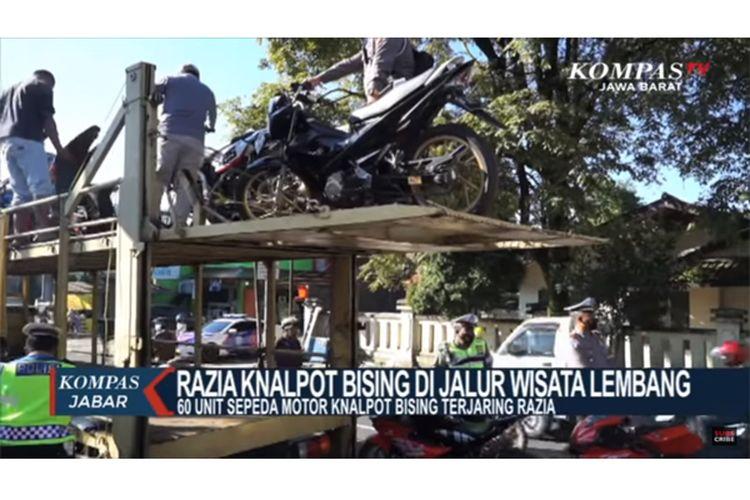 Razia knalpot bising di Lembang