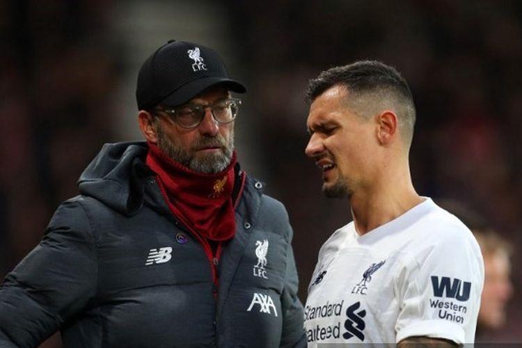 Liverpool, Juergen Klopp dan Dejan Lovren.