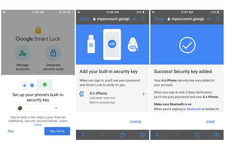 Aplikasi Smart Lock di iOS kini memiliki opsi untuk menggunakan iPhone sebagai kunci untuk verifikasi dua langkah.