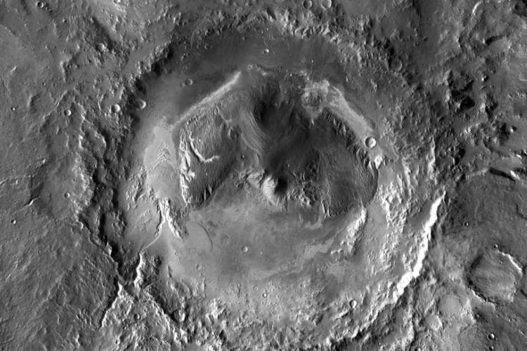 Kawah Gale di Mars, lokasi yang diyakini sebagai sumber keberadaan metana.