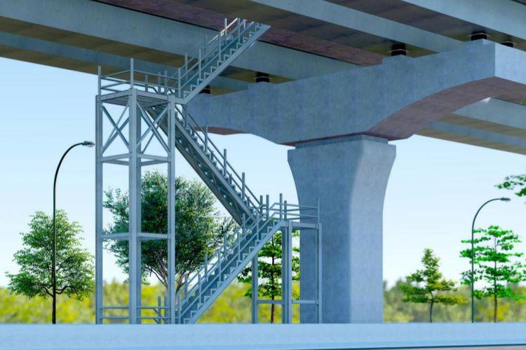 Pembangunan Emergency Access berupa tangga darurat di 8 titik jalan tol layang Jakarta-Cikampek Elevated II