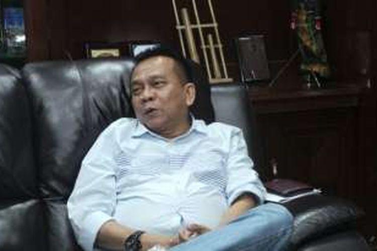 Wakil Ketua DPRD DKI Jakarta sekaligus Ketua DPD Gerindra DKI Jakarta Mohamad Taufik, saat ditemui di ruang kerjanya di lantai 9 Gedung DPRD DKI Jakarta, Selasa (23/8/2016).