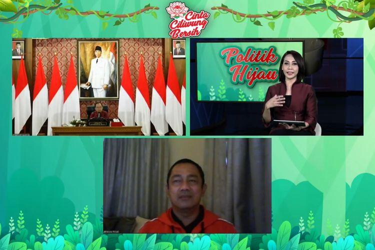 Wali Kota Semarang Hendrar Prihadi dalam diskusi virtual bertajuk Politik Hijau PDI Perjuangan (PDIP) yang ditayangkan secara langsung dari kanal Youtube resmi @pdiperjuangan dan akun facebook @pdiperjuangan, Sabtu (20/2/2021).