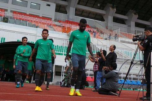 Ketatnya Latihan Timnas Indonesia di Stadion Pakansari