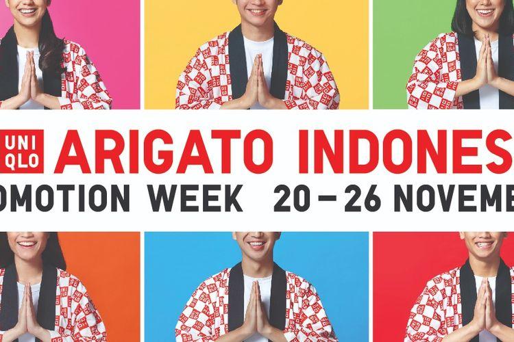 Program apresiasi pelanggan Arigato Indonesia akan berlangsung 20-26 November 2020.
