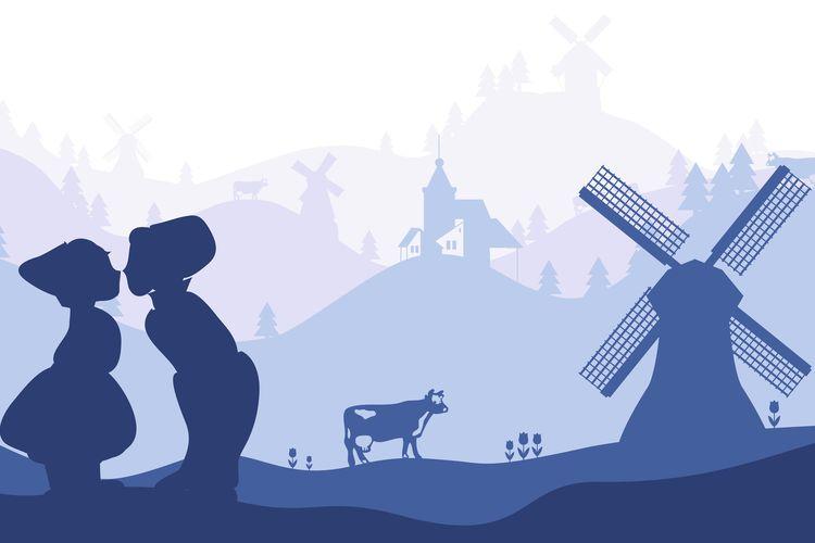 Ilustrasi Negeri Kincir Angin, Belanda