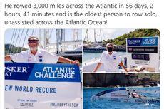 Pria 70 Tahun Lintasi Samudra Atlantik Selama 56 Hari demi Galang Dana untuk Amal