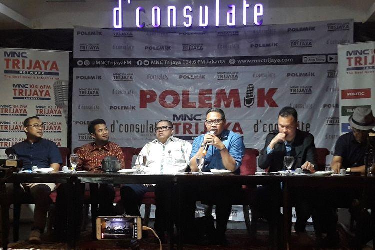 Diskusi bertajuk Sidang MK dan Kita di kawasan Menteng, Jakarta Pusat, Sabtu (22/6/2019).