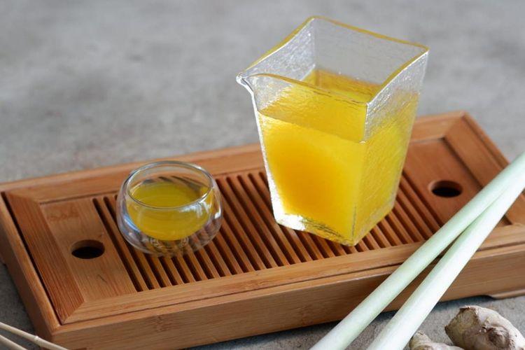 Ilustrasi Golden Ginger Tea, kreasi teh karya Ratna Somantri