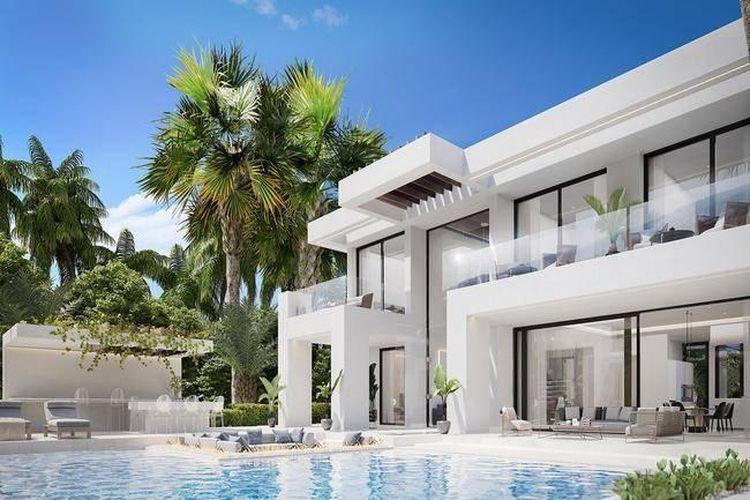 Rumah Cristiano Ronaldo di Costa del Sol, Spanyol.