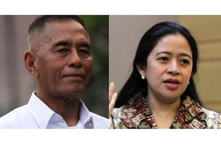 Menteri Pertahanan Ryamizard Ryacudu dan Menko PMK Puan Maharani.