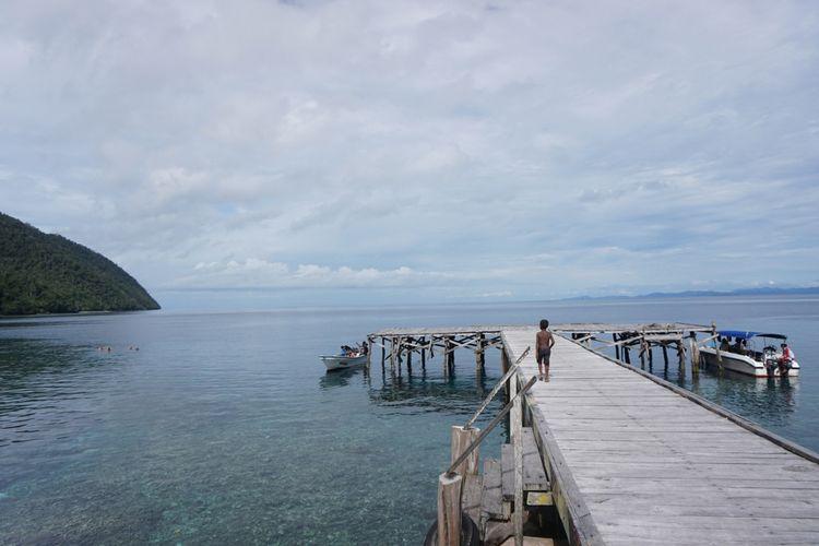 Pulau Sauwandarek di Raja Ampat termasuk jadi spot snorkeling dan diving.
