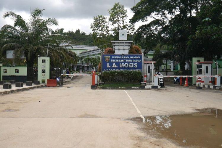 RSUD IA Moeis di Jalan HM Rifadin Samarinda, Kalimantan Timur, Minggu (19/4/2020).