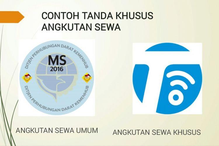 Desain stiker taksi online dari Kementerian Perhubungan