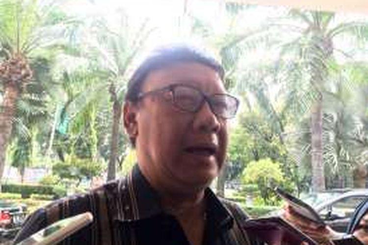 Menteri Dalam Negeri Tjahjo Kumolo di Kementerian Koordinator Pembangunan Manusia dan Kebudayaan, Jakarta, Rabu (19/10/2016).