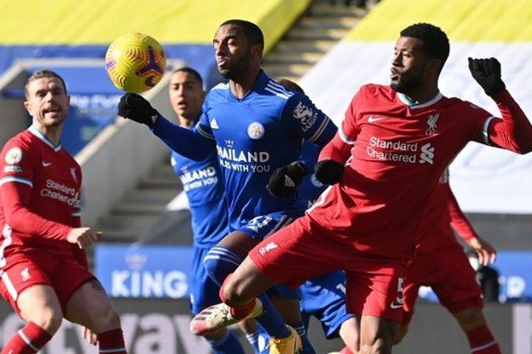 Duel Leicester City vs Liverpool di lanjutan ajang Liga Inggris, Sabtu (13/2/2021) malam WIB.