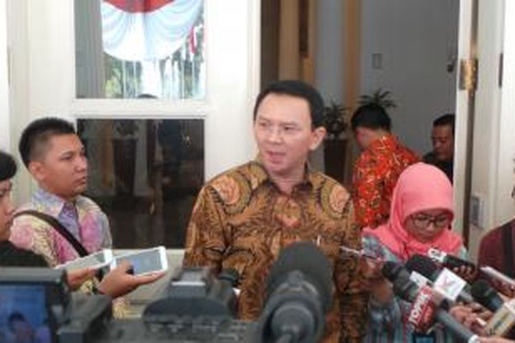 Gubernur DKI Jakarta Basuki Tjahaja Purnama di Balai Kota, Jumat (21/8/2015).