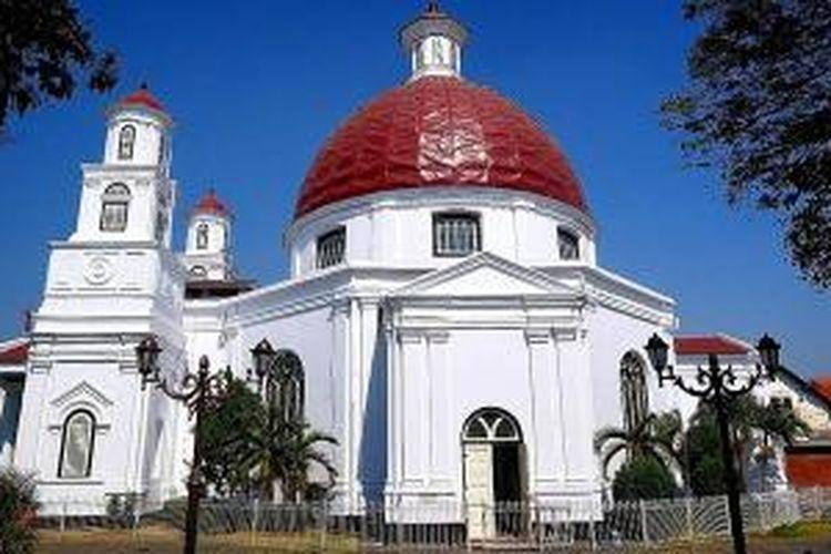 Gereja Blenduk di Kota Semarang, Jawa Tengah.