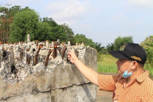 Besi Tiang Pancang Masjid Sriwijaya Banyak yang Hilang Dicuri