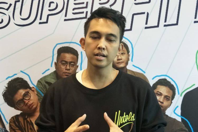 Naga Lyla saat ditemui dalam jumpa pers peluncuran album kompilasi Musikini Superhits di kawasan Kelapa Gading, Jakarta Utara, Senin (21/10/2019).