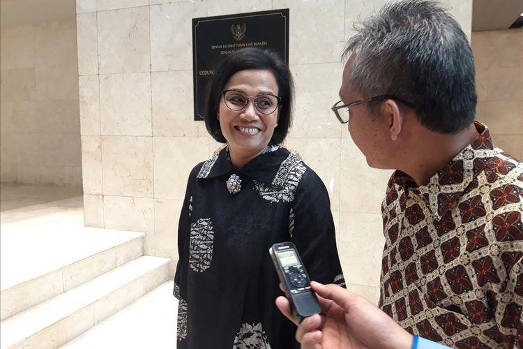 Menteri Keuangan Sri Mulyani Indrawati di Jakarta, Kamis (4/7/2019).