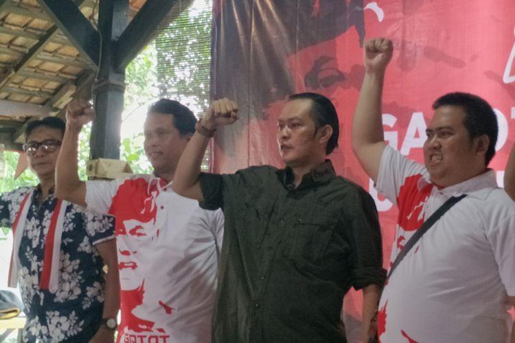 Kelompok relawan yang menamakan dirinya sebagai Presidium Nasional Gatot Nurmantyo untuk Rakyat (GNR) mendeklarasikan dukungan terhadap mantan Panglima TNI Jenderal (Purn) Gatot Nurmantyo sebagai calon presiden (capres) di Pilpres 2019.