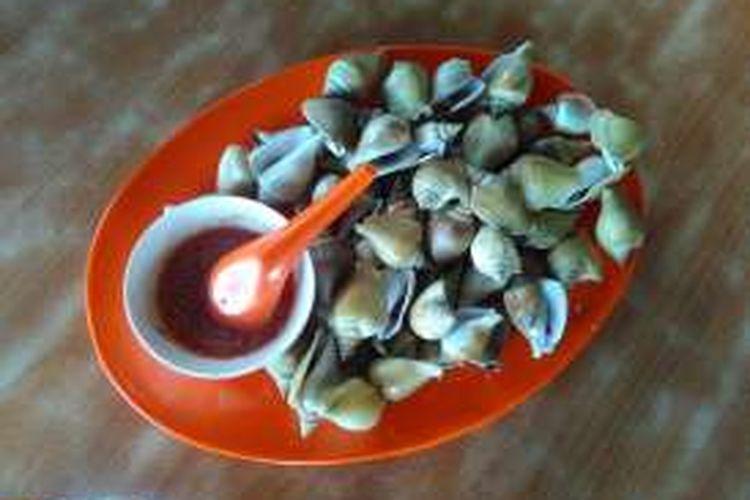 Makanan laut gonggong.