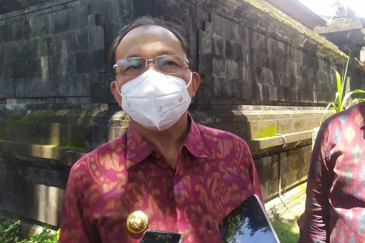 Gubernur Bali I Wayan Koster di rumah jabatan, Selasa (16/2/2021).
