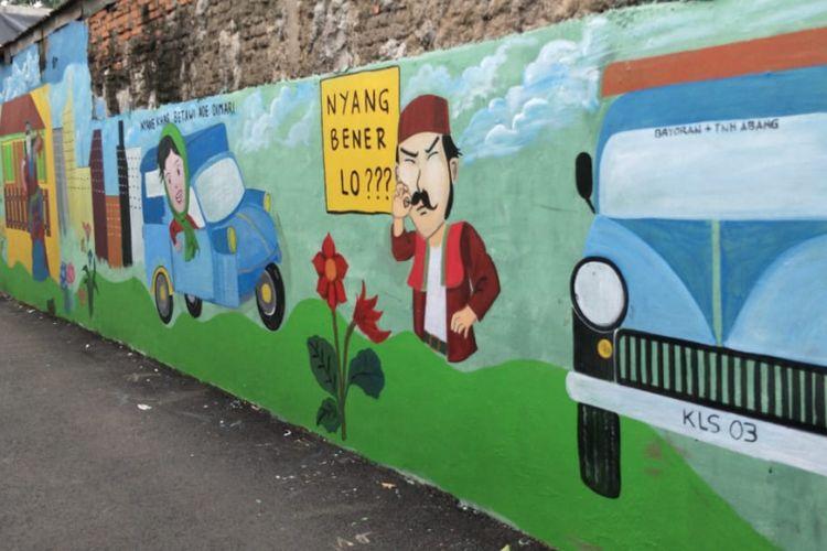 Mural karya Petugas PPSU Kelurahan Kebayoran Lama Selatan, Jakarta Selatan.