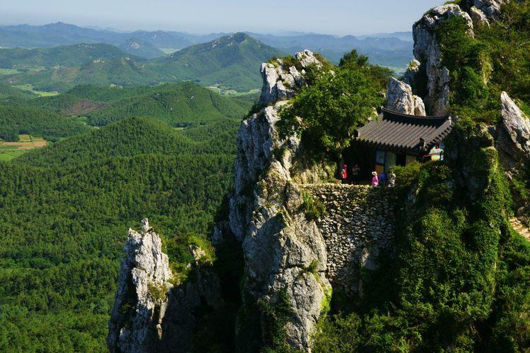 Bukit Do Solam di Jeollanamdo, Korea Selatan.