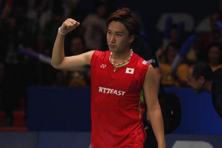 Pebulu tangkis tunggal putra Jepang, Kento Momota,