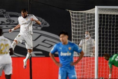 Madrid Vs Valencia, Benzema Ukir Rekor Gol untuk Los Blancos