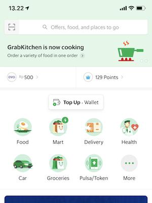 Layanan GrabBike pada aplikasi Grab