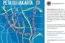 Catat, 27 Segmen Jalan yang Bebas Ganjil-Genap di Jakarta