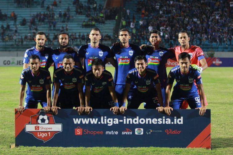Susunan pemain utama PSIS Semarang pada laga Liga 1 2019 versus Persela, 6 Juli 2019.