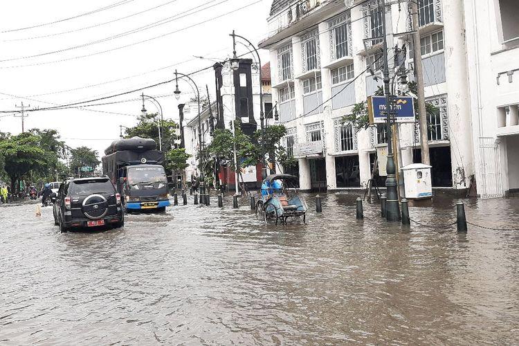 Banjir di Kawasan Kota Lama Semarang