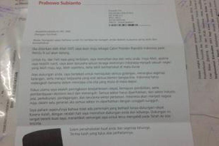Ini Isi Surat Prabowo Kepada Guru Sd Di Depok