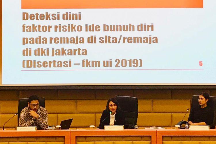 Harvard Club Indonesia (HCI), forum alumni Universitas Harvard di Indonesia menggelar diskusi mengupas berbagai tantangan dan pendekatan untuk membenahi sektor kesehatan Indonesia di Gedung Nusantara DPR RI bertepatan dengan Hari Pencegahan Bunuh Diri Sedunia di hari Selasa (10/9/2019)